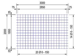 PS188V : 6*15*15 thermisch verzinkt