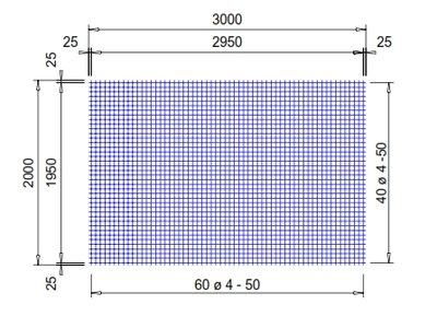 PS252A : 4*50*50 mm. (2x3 meter)