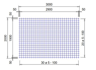 PS196A : 5*10*10 (2x3 meter)